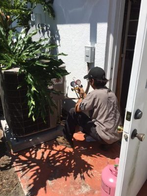 Joe Bright & Darrell Puffenburger ~ on the job installing a new ac system