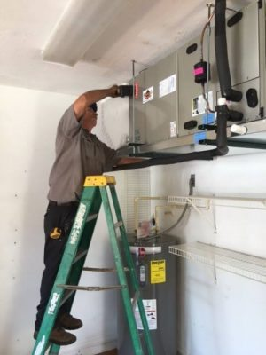 Joe Bright & Darrell Puffenburger ~ on the job installing the fan unit