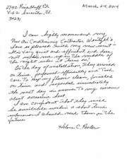 Testimonial Letter from Helene R