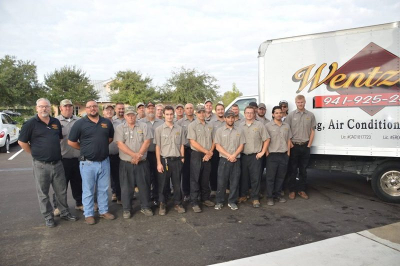 Wentzel's Heating and Air Conditioning Division Staff 2016