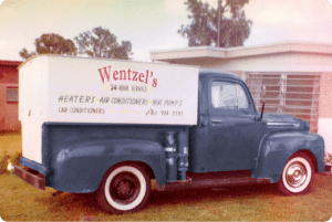 Wentzel's Heating and Air Service Truck
