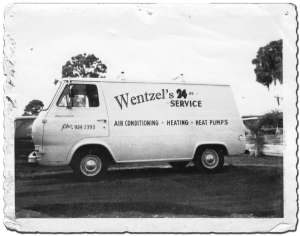 Wentzels Heating and Air Conditioning Van in 1963