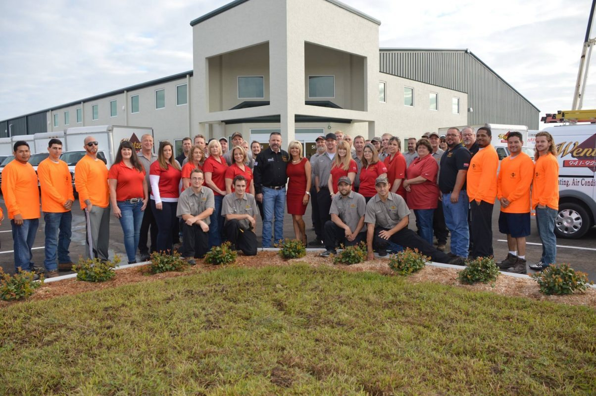 Wentzel's Staff from all divisions at new location