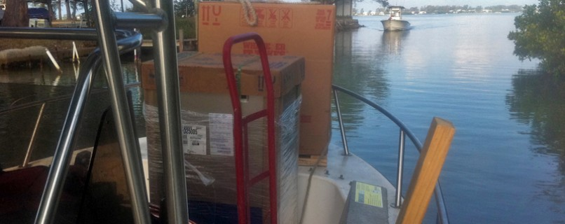 Delivering HVAC Equipment by boat to Cabbage Key